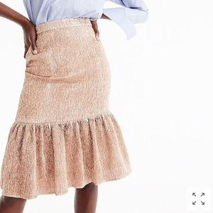Rose gold Metallic Ruffled Fluted Skirt